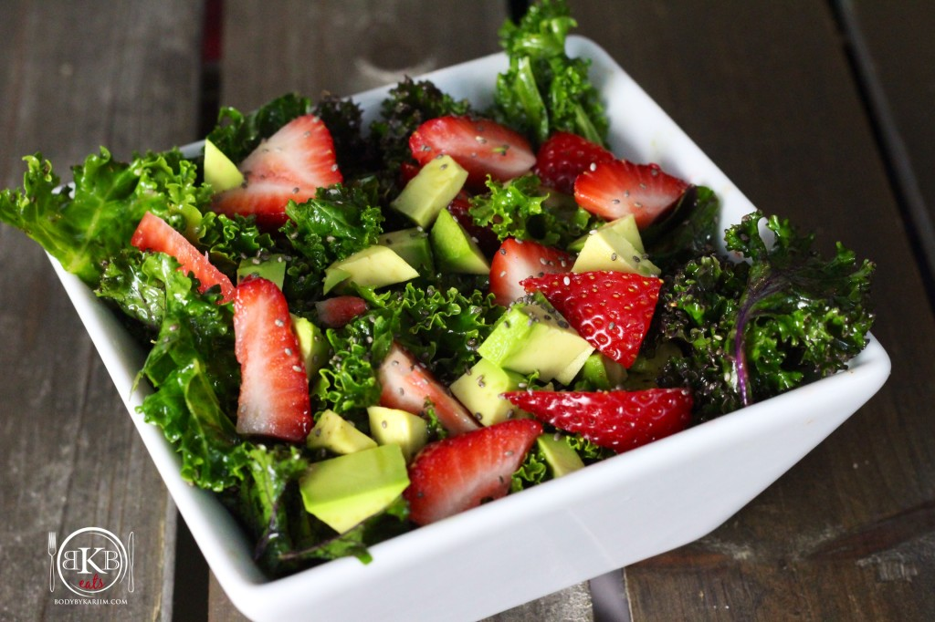 Kale Strawberry Avocado Salad