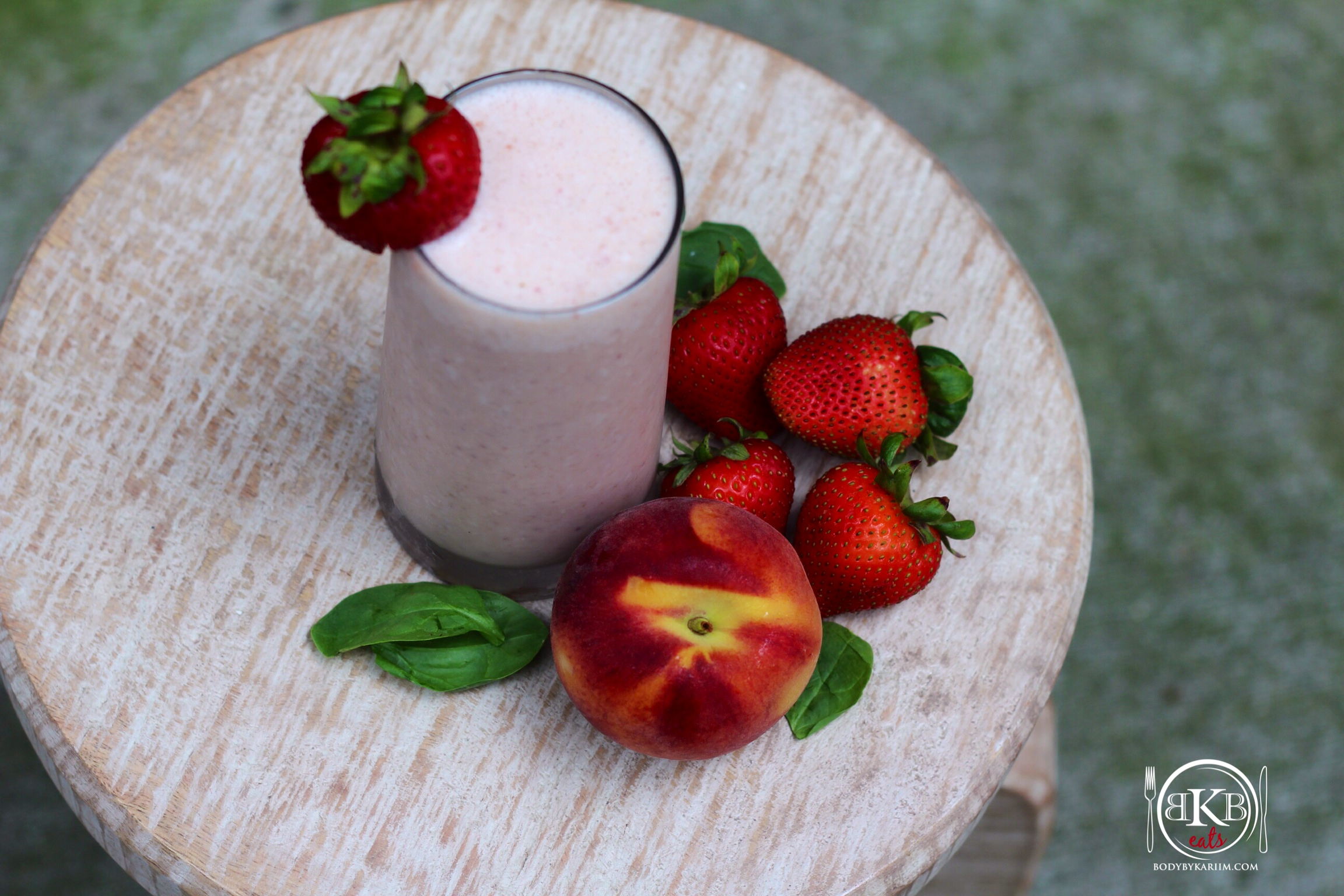 Strawberry:Peach Smoothie